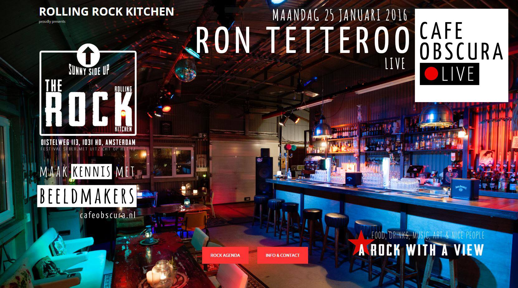 Ron Tetteroo tijdens cafeobscura LIVE in Amsterdam | Cafe ... Rolling Rock Kitchen